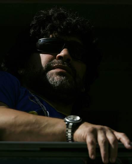 Maradona, en un partido de Boca Juniors.