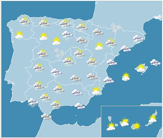 mapa metereologico Mapa Meteorológico España mapa metereologico