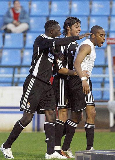 Celebración gol de Robinho