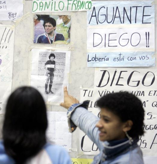 Maradona clinica Guemes