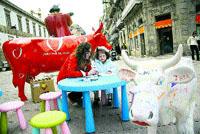 Vacas para entretener a los niños