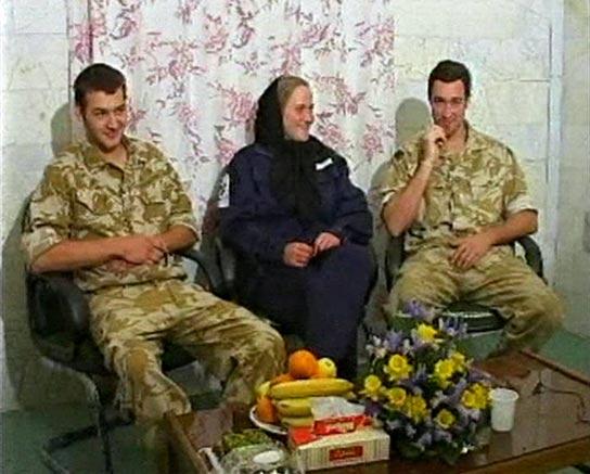 Soldados británicos capturados en Irán