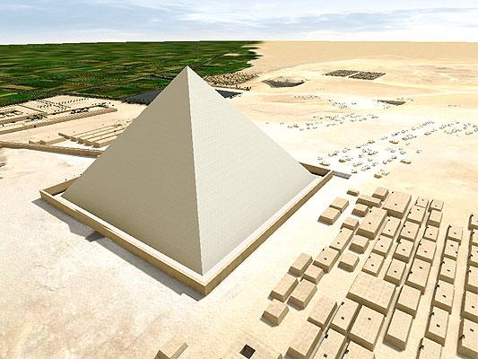 Pirámides de Egipto, construcción. La prueba más importante a favor de la existencia de una red interna de túneles en espiral se deriva de un test de microgravedad llevado a cabo en 1986, en el que científicos franceses detectaron una anomalía: una estructura menos densa en forma de espiral dentro de la pirámide.