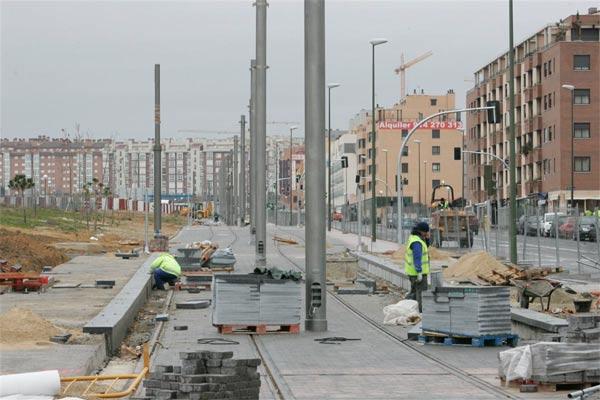 Viviendas en construcción en San Chinarro