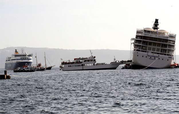 Evacuación del 'Sea Diamond'