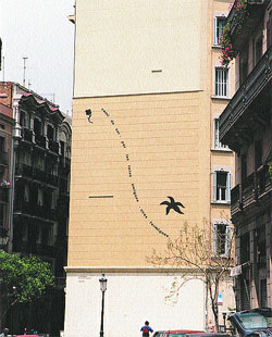 Barcelona decora con arte las paredes medianeras