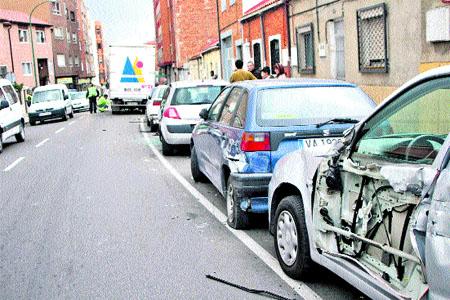 Se empotró contra 6 coches