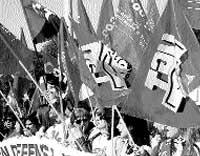 Protesta contra Atento en Santiago