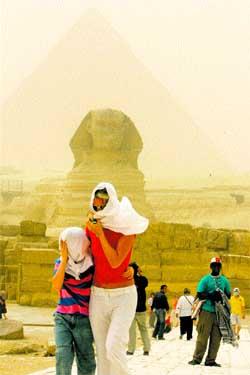 La silueta de la pirámide