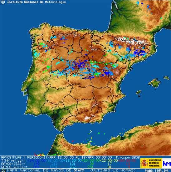Mapa de tormentas
