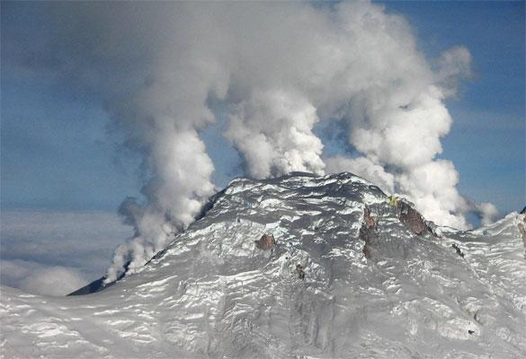 El volcán colombiano de Huila