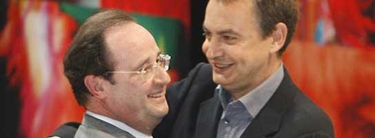 Zapatero en el mitin de Royal (AP)