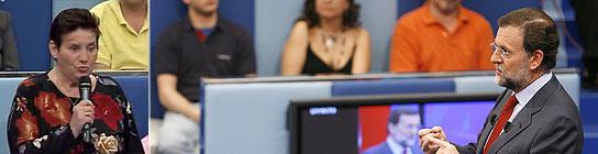 Rajoy, durante el programa de TVE.