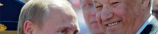 Yeltsin junto a su sucesor, Vladimir Putin