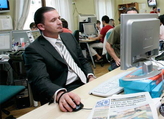Pedja Mijatovic en una imagen de archivo, en una visita a la redacción de 20minutos.es