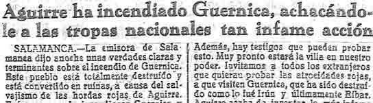 Sobre el bombardeo de Gernika