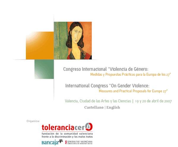 Cartel del congreso internacional violencia de género