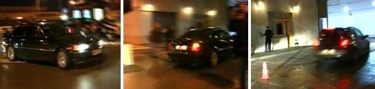 Momento en el que Isabel Pantoja entra en la comisaría provincial de Málaga. (TELE 5)