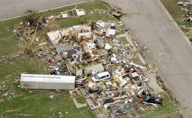 Vista aérea de Greensburg, en Kansas