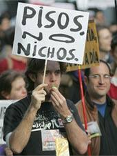 Manifestación por una vivienda digna en Madrid