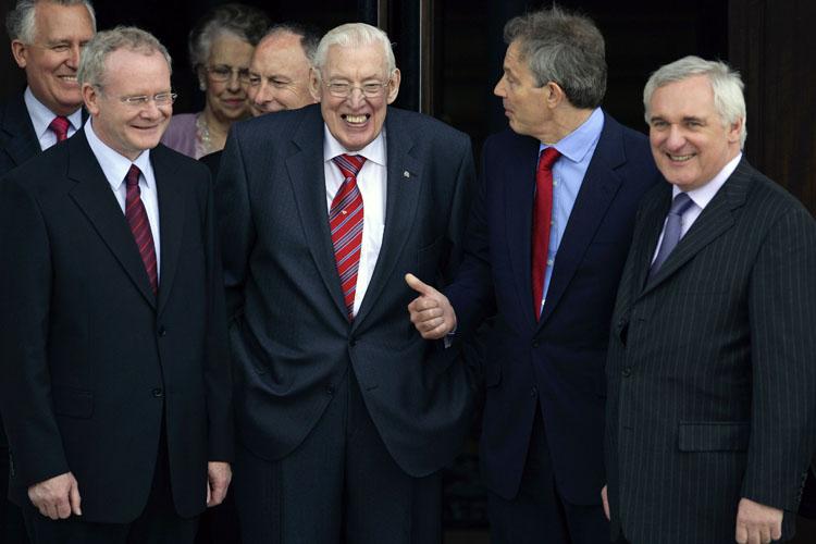 McGuinness, Paisley,Blair y Ahern