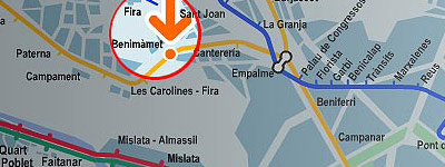 Plano de Metro Valencia