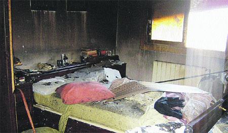 40 vecinos evacuados por el fuego
