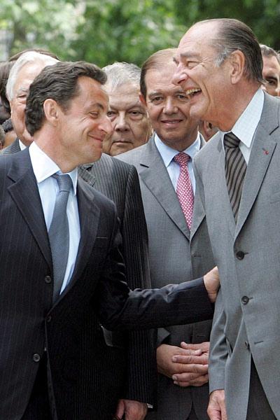 Chirac y Sarkozy juntos (EFE)