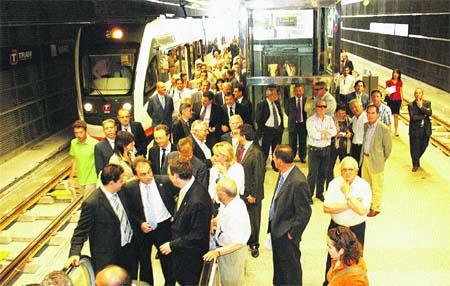 La nueva estación subterránea del TRAM del Marq. (F. González)