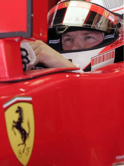 Un detalle del Ferrari de Kimi Raikkonen.