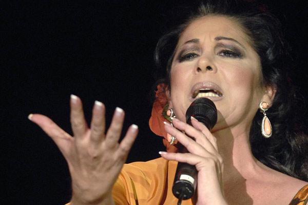 Isabel Pantoja en el concierto de Valladolid