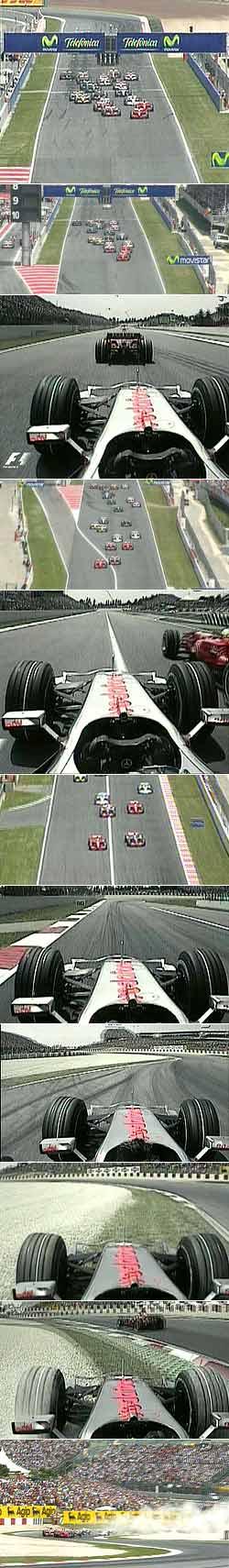 La salida del GP de España.