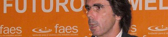 Aznar durante su comparecencia en Melilla
