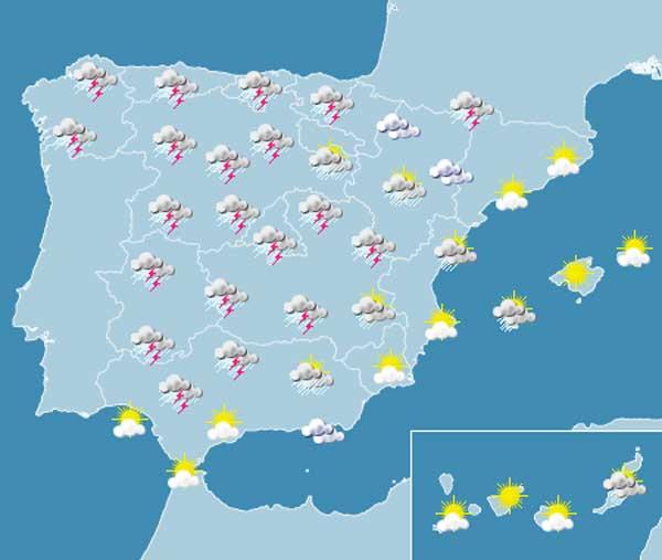 Habrá lluvias en casi toda España.