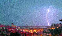 Las tormentas dejaron 400 rayos en Valladolid y 3.300 en la región