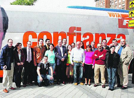 La caravana del candidato