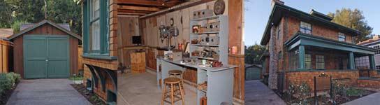 El garaje de HP por fuera, por dentro y la casa. (Foto:HP).