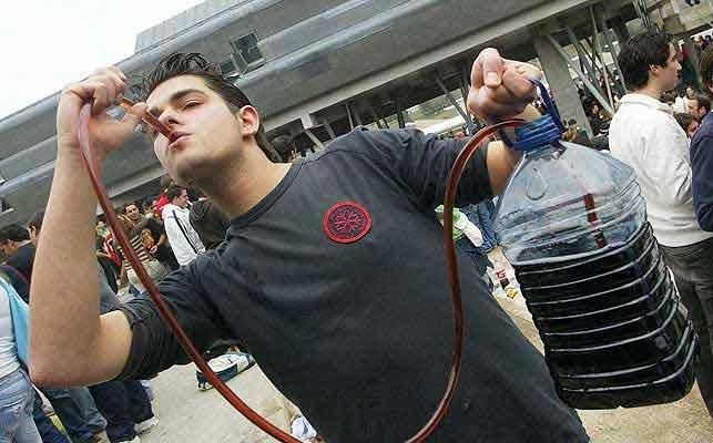Botellonero, en una foto de archivo