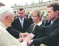 El Papa, con Madeleine