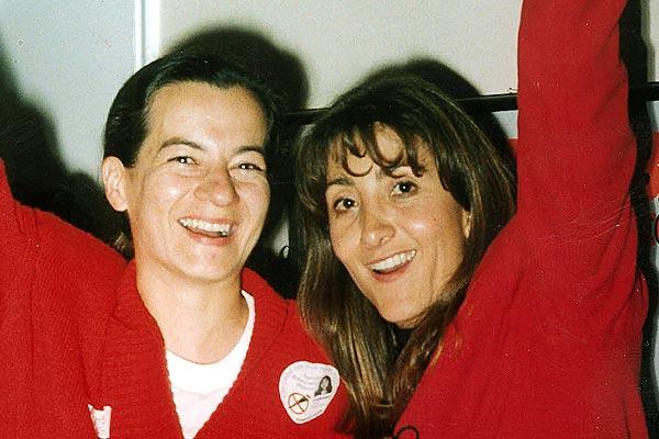 Clara Rojas (izquierda) e Ingrid Betancourt (derecha) antes de su secuestro