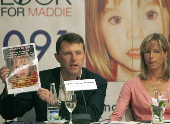 Los padres de Madeleine McCann, en la rueda de prensa en Madrid.