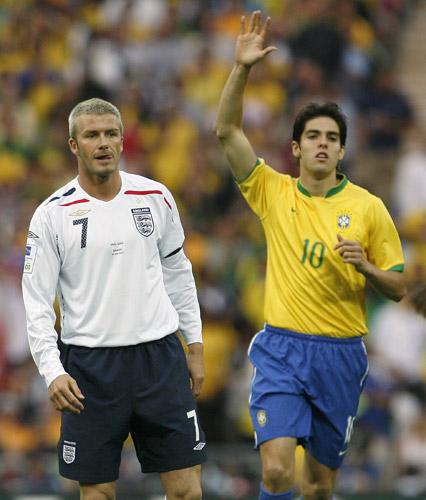 Beckham y Kaká