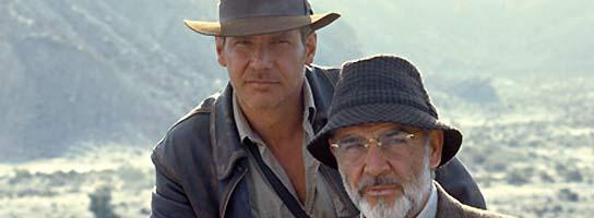 Sean Connery y Harrison Ford, padre e hijo en la ficción.