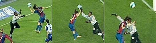 Varias imágenes de la mano de Messi. (Canal +)