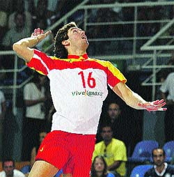 España pierde frente a Alemania en la Liga Europea de Voleibol
