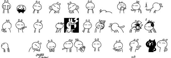 Son los 'Tzukis' y en China ya son los 'emoticonos' más populares. (Stardrawing)