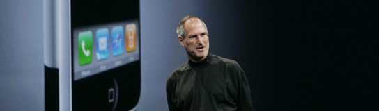 Steve Jobs durante la conferencia.