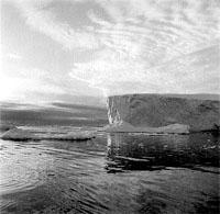 hielos en blanco y negro