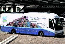 Un autobús que regala melva