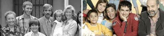 Los Alcántara y los Serrano retratan en la televisión a familias de ayer y hoy